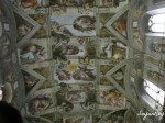 The frescos of the ceiling of the Sistine Chapel, painted by Michaelangelo