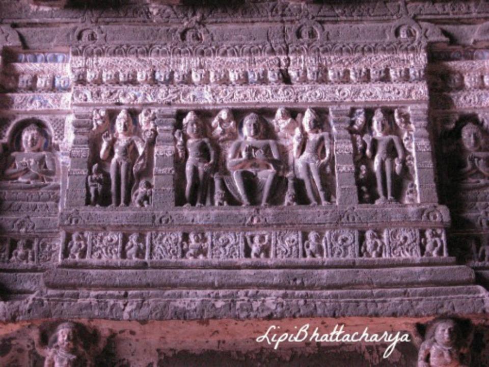 Wall Carvings - Ajanta Caves