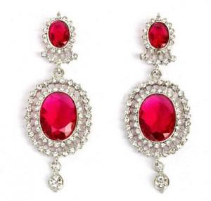 Touchstone Rhodium Plated Glistening Drop Earrings