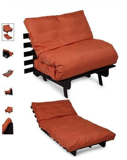 Truhome- Sofa cum Bed with Orange Mattress