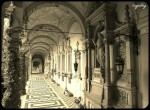 Interior corridor at Mirogoj cemetery.