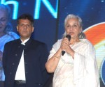 The first centenary award winner actress Waheeda Rehman addressing at the inaugural ceremony of the 44th International Film Festival of India (IFFI-2013), in Panaji, Goa on November 20, 2013. The Minister of State (Independent Charge) for Information & Broadcasting, Shri Manish Tewari is also seen.