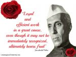 Loyal and Efficient Work Bears Fruit – Jawaharlal Nehru