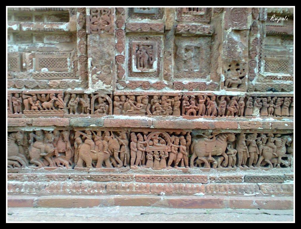 Terracotta Works at Laliji temple, Kalna
