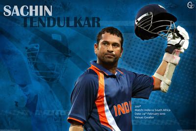 Sachin Tendulkar - 200 Runs in an ODI Paper Print