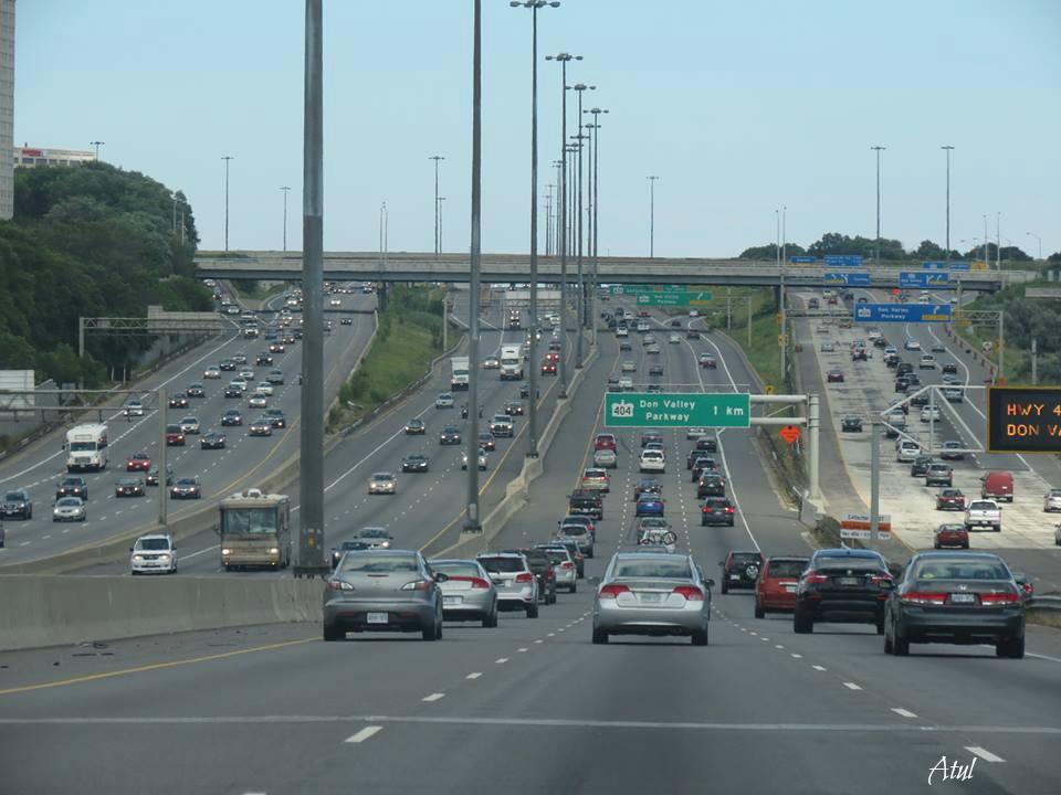 Highway 404 in Ontario, Canada