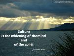 Learning Quote On Culture – Jawaharlal Nehru