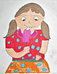 Girl Eating Icecream (Art By Kids)
