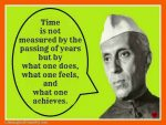 Quote On Concept Of Time By Jawaharlal Nehru