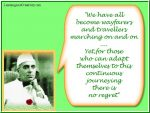 Quote on Wanderlust by Jawaharlal Nehru
