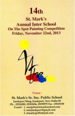 St. Mark's Interschool Painting Competition To Be Held On Nov 22