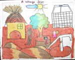 Village Scene (Art By Kids)