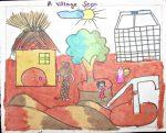 Village Scene (Art By Kids)