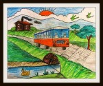 A bus ride to a village
