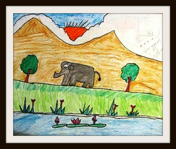 Art by Kids: A Big Elephant