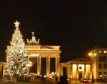 It's the Christmas Season at Brandenburg Gate, Berlin