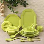 IVEO Octa Green Dinner Set