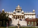 Jaswant Thada - entirety, built out of intricately carved sheets of marble which are extremely thin.  These are so immaculately polished that they emit a warm glow when the sun's rays fall across their surface.
