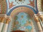 Ceiling frescoes by the famous Russian painter Vereshchagin in The Nativity of Christ Cathedral (in Riga, Latvia)