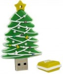 Microware Christmas Tree Shape 4 GB Pen Drive