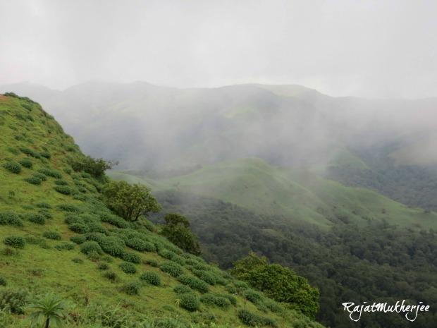 Overlooking peaks at Coorg