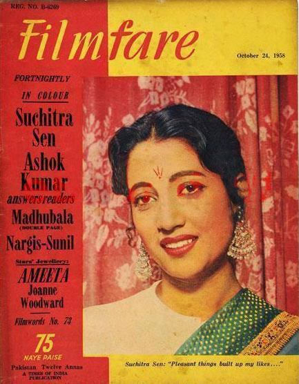 The Filmfare cover featured Suchitra Sen