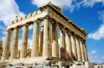 "The Parthenon was built in honour of the goddess Athena Parthenos (virgin Athena), patroness of the city of Athens.  The temple was sacred to two aspects of the Greek Goddess Athena, Athena Polios (""of the city"") and Athena Parthenos (""young maiden""). The ""on"" ending means ""place of"", so ""Parthenon"" means ""Place of the Parthenos"".  The temple was almost seventy meters long and thirty-one meters wide (230 x 100 ft). Fourty-six columns surrounded the inner cellae, one of which housed an enormous statue of goddess Athena."