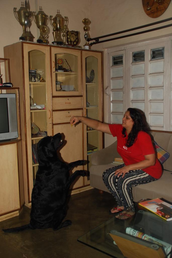 Madhavi playing with Aryan