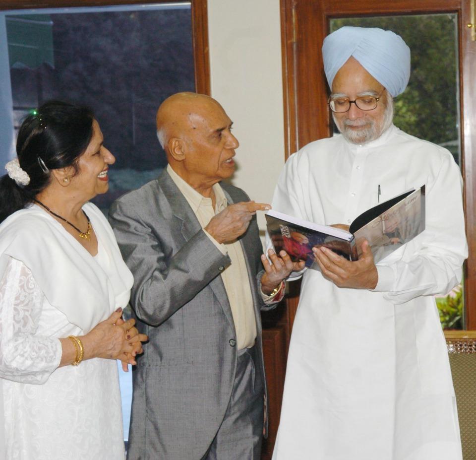 Khayyam with Dr Manmohan Singh