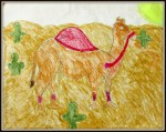 Camel (oil pastels painting by children