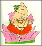 Start your work with a prayer  To Ganesha each day  Success will meet you in all your endeavours Every step of your way!