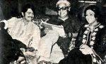 Rakesh Roshan and Bindiya Goswami with Basu Chatterji on the sets of Khatta Meetha