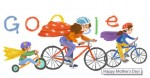 Google Doodles Sporting Mom And Kids on Mother's Day 2014