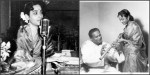 Geeta Dutt at the harmonium and with maestro flutist Pt Pannalal Ghosh
