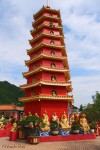 Red Pagoda with Miniature Buddhas and Arahats