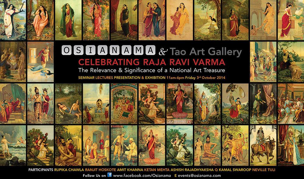 Raja Ravi Varma exhibition 3 oct 2014