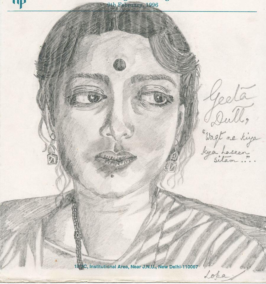 Geeta Dutt sketch