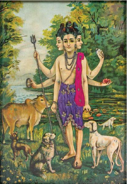 Sri Duttatreya (Raja Ravi Varma)