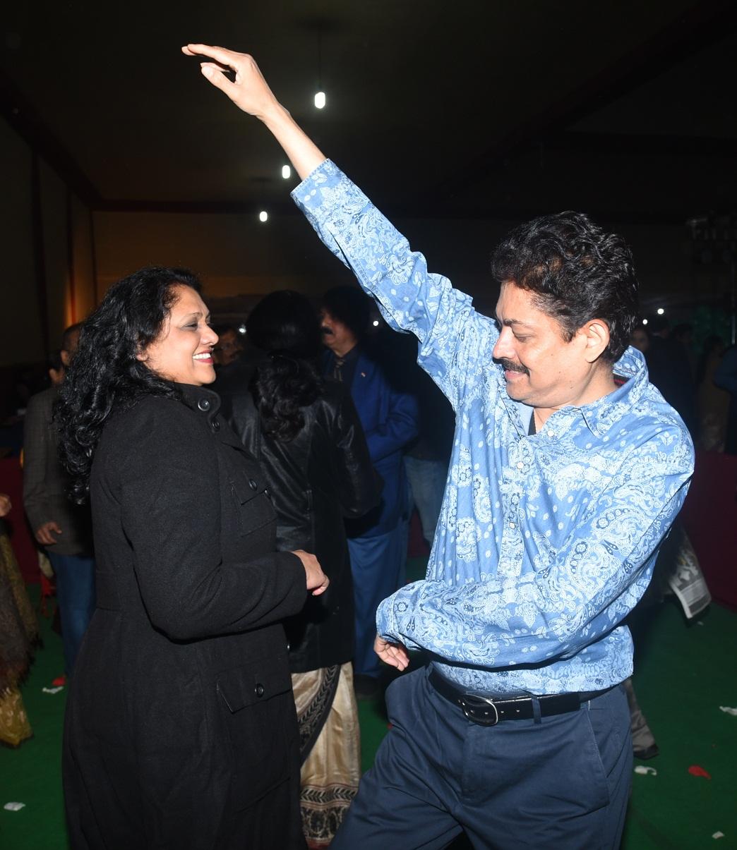 Ramendra Kumar with Madhavi