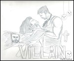 Pencil sketch of Ek Villain by a child artist