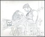 Pencil sketch of Ek Villain by a child artist