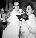 Geeta Dutt and SD Burman (Pic courtesy: Internet)