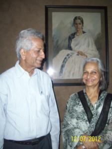 Moti Lalwani and Waheeda Rehman