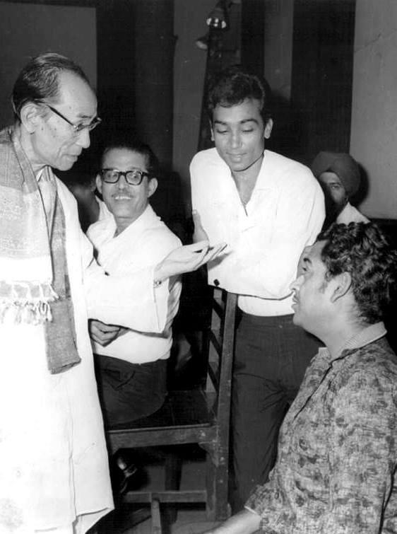 S D Burman, V. Balsara, Bhupinder Singh and Kishore Kumar