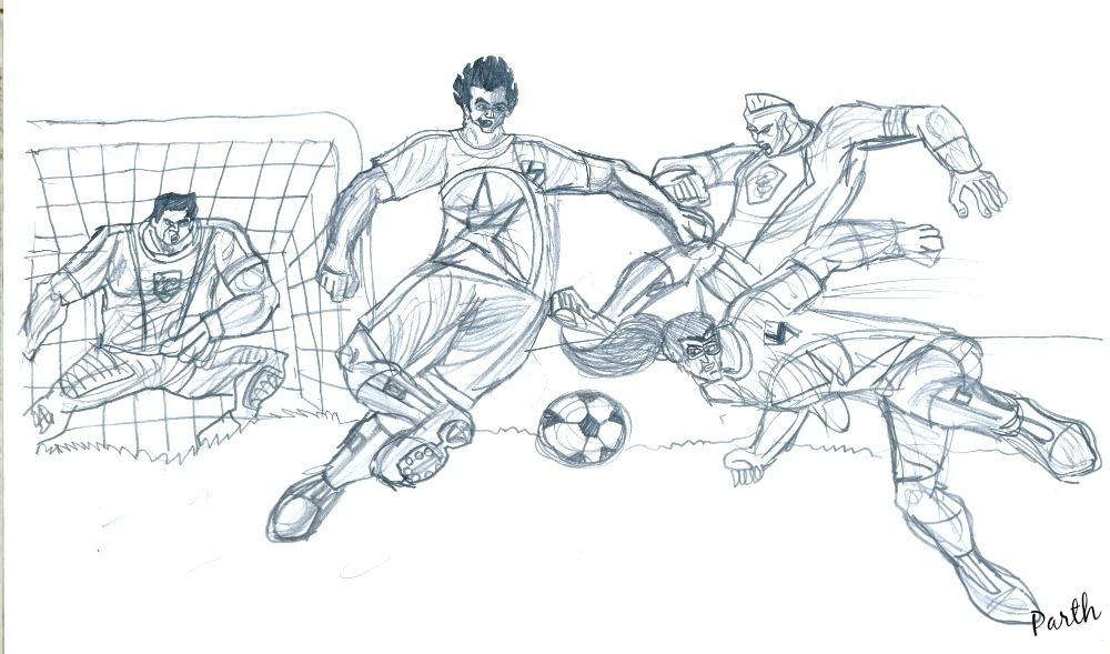 Pencil Sketches Football