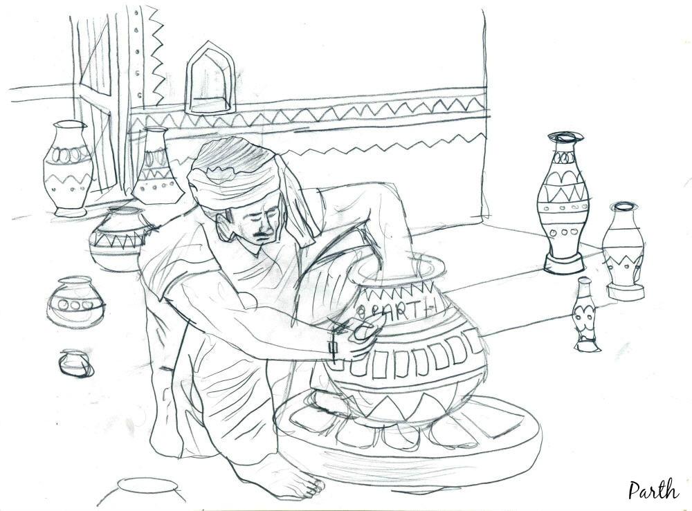 Pencil Sketches Potter