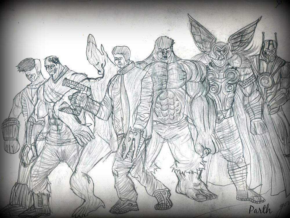 Pencil Sketches Thor sketch