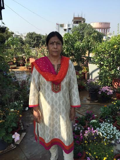 Gunjan Khandelwal in her garden