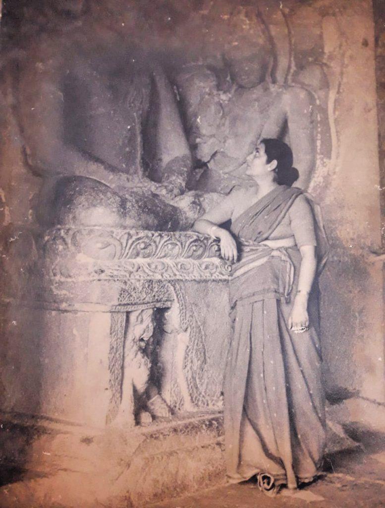 Manobina Roy at Elephanta Caves photo by Bimal Roy