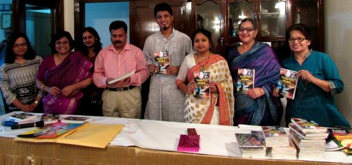 Yaseen Anwar of Kaafiya Poetry Festival, authors Satbir Chadha and Kiren Babal
